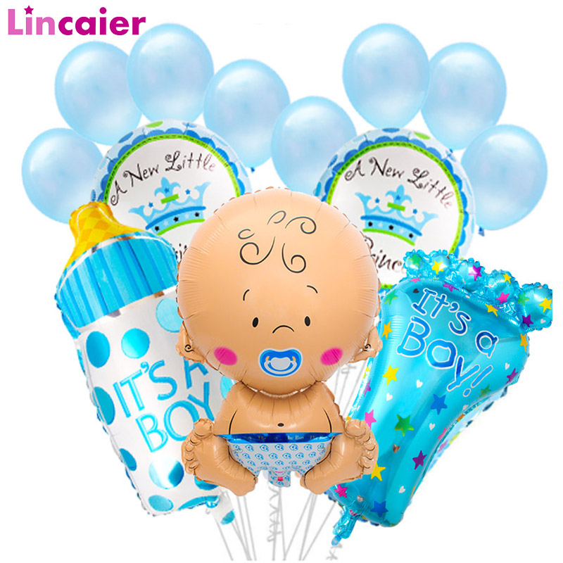 Babyshower Party Supplies Inculde 15Pcs by FRIDAY NIGHT ITS A BOY Babyshower Photo Booth Props Blue Theme Baby Shower Prefect for Lovely Baby