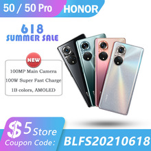 Original Honor 50 5G Smartphone 108MP Camera 6 72   120Hz OLED Screen Snapdragon 778G 66W Flash Charge 8GB 256GB Cellphone NFC