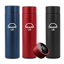 500ML smart thermos bottle For MAN TGX TGM THAT'S THE Car accessories Digital temperature display stainless steel coffee mug