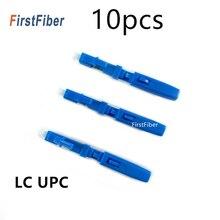 10PCS LC UPC מהיר מחבר מצב יחיד סיבים אופטיים מהיר מחבר LC מוטבע סוג FTTH סיבים אופטיים מהיר מחבר