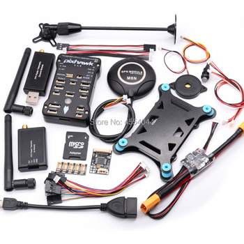 цена на Pixhawk 2.4.8 PX4 PIX Flight Controller+M8N GPS+xt60 power module+3DR 100MW/500MW Radio Telemetry 433Mhz 915Mhz+gps holder