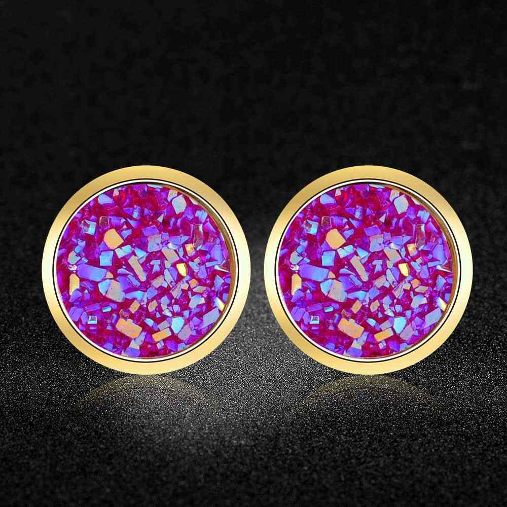 AAAAA Quality 100% Stainless Steel Shinning Resin Stud Earring for Women Super Fashion Earrings Wholesale Gift