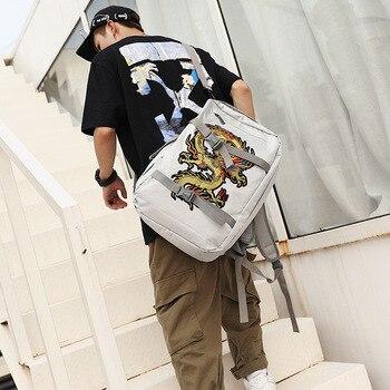 Korean version of men's travel backpack men's large capacity multi-functional high school students schoolbag women