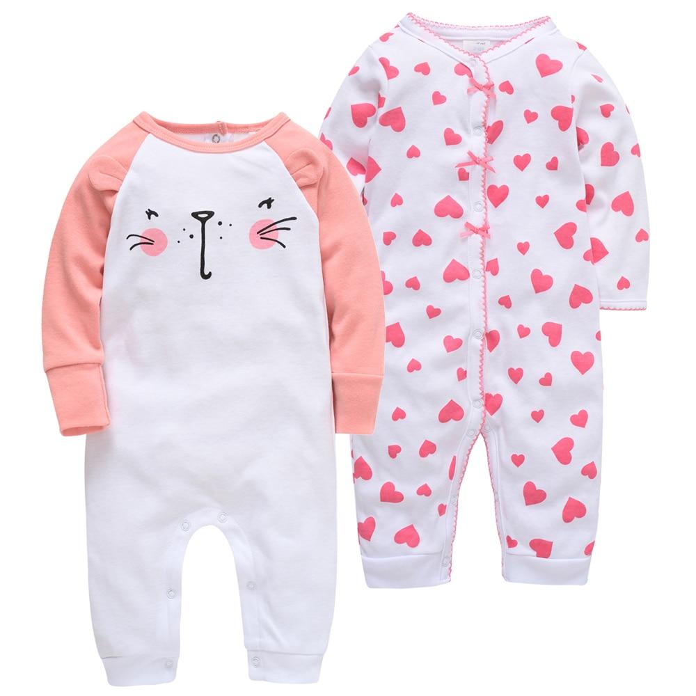 Baby Clothes 2pcs/lot Body Kavkas Baby Girl Clothes Full Sleeve Cotton Cartoon Print Overalls