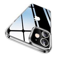 Прозрачный чехол для iPhone серии 12, противоударный защитный чехол для телефона с защитой от пожелтения в Военном Стиле