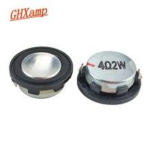 GHXAMP 1 بوصة 4Ohm 2 واط مكبر صوت صغير 28 مللي متر PU الجانب كامل المدى الصوت Midrange باس MP3 سمّاعات بلوتوث مستدير 1 Pairs