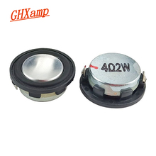 Ghxamp 1 インチ 4Ohm 2 ワットミニスピーカー 28 ミリメートル pu サイドフルレンジサウンドミッドレンジ低音 MP3 bluetooth スピーカーラウンド 1 ペア