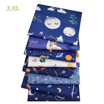 Sky,Printed Twill Cotton Fabric,Patchwork Cloth For DIY Sewing Quilting