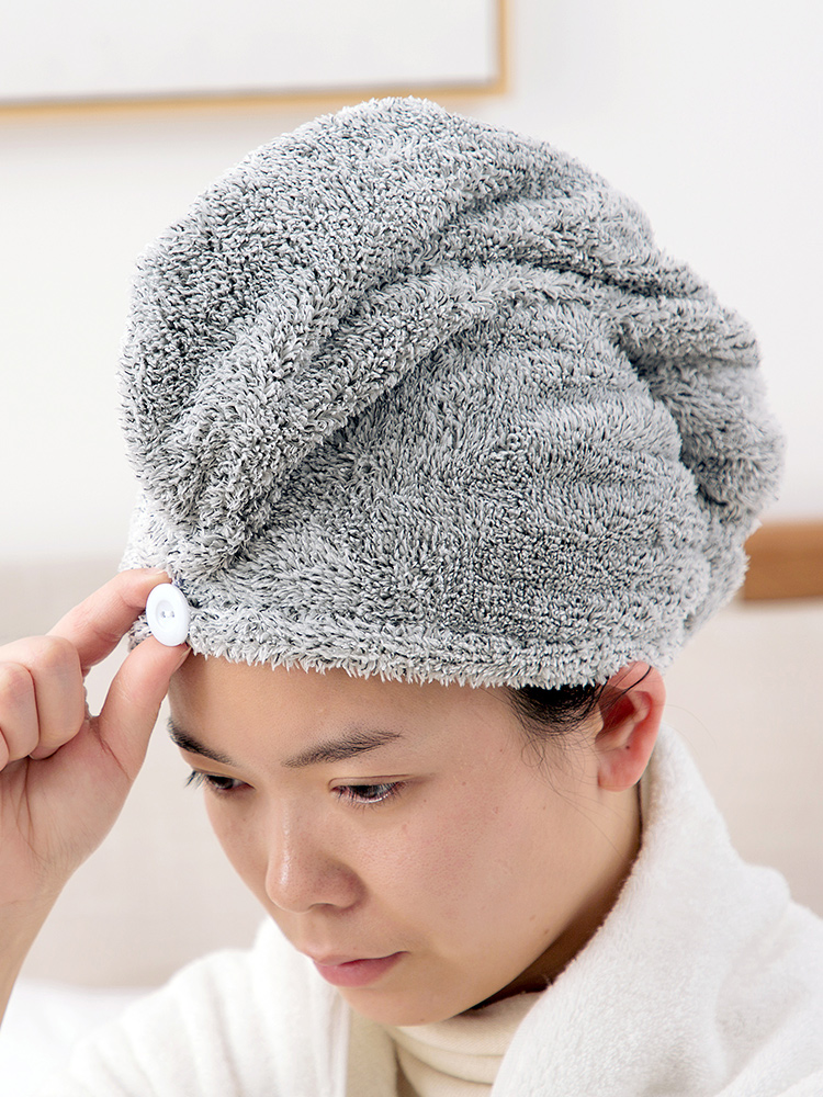 Bamboo fiber absorbent towel dry hair cap female hair wicking quick-drying towel turban shower cap type hat