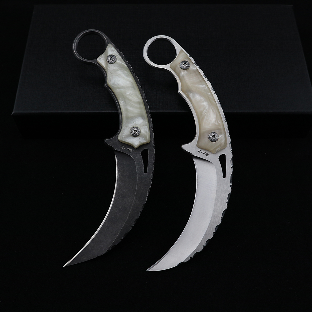 Knives Tactical Survival Use EDC Karambit Claw Tools Outdoor Knife 9cr18 Knives Blade Fixed CSGO And For Camping Hunting Blade