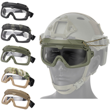 цена на Tactical Airsoft Paintball Goggles Windproof Anti fog CS Wargame Protection Goggles Fits for Tactical Helmet