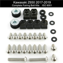 For Kawasaki Z650 2017 2018 2019 Motorcycle Complete Cowling Fairing Bolts Kit Speed Nuts Stainless Steel 2017-2019