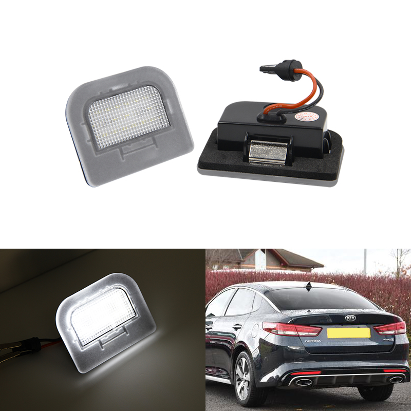 2x Fits For Kia Optima K5 2016 2017 2018 2019 Error Free Led Number License Plate Lights Lamp image