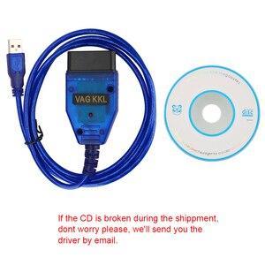 Image 3 - OBD2 USB אבחון כבל סורק סריקת כלי ממשק עבור פולקסווגן אאודי סיאט פולקסווגן סקודה VAG COM 409.1 Vag Com 409Com CH340 שבב