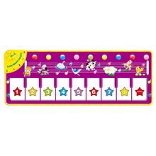 Children'S Multi-Function Music Blanket Game Carpet Flash Piano Blanket Purple Piano Mat Pedal Dance Blanket Toy(China)