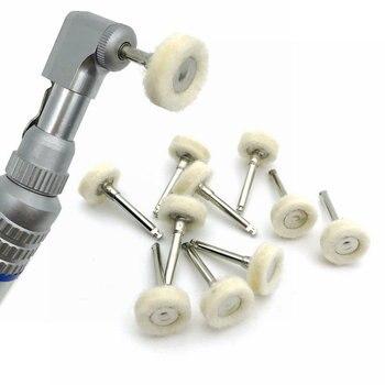10pcs Dental Polishing Wheel Wool Cotton Polishing Brushes Polishers For Rotary Tools Jewelry Buffing 2.35mm Polishing Wheel