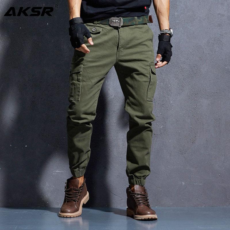 AKSR Men's Cargo Pants Large Size Flexible Tactical Harem Pants Military Trousers Hip Hop Pants Streetwear Joggers Sweatpants