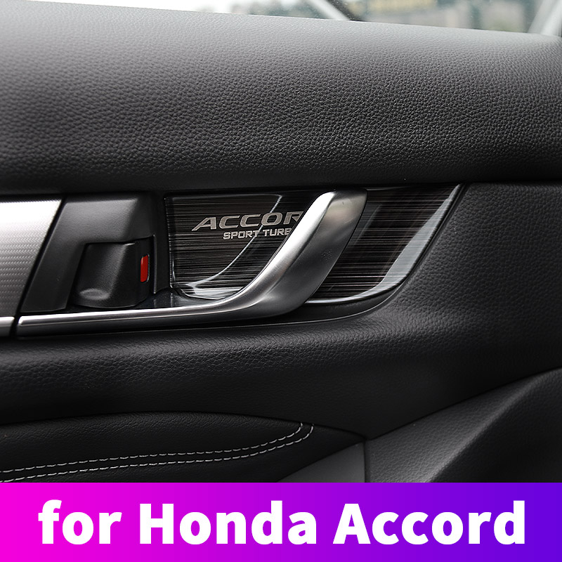 For <font><b>Honda</b></font> <font><b>Accord</b></font> 10th 2018 <font><b>2019</b></font> Door handles SMD inner door bowl protector decorative stainless steel sequins modification image