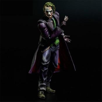 [Funny] Original box 21cm Playarts PLAY ARTS KAI Batman The Dark Knight The Joker PVC Action Figure collection Model Toy gift