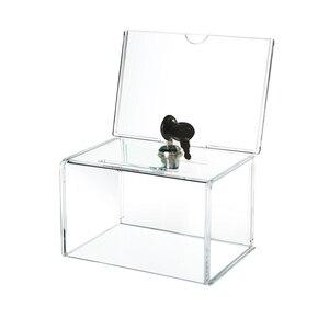 Image 3 - Acryl Spende Sammlung Box, Plexiglas Charity Fundraising Box mit Keylock für Kirche, nicht profitable Gruppe, Charity