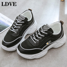 Vintage Dad Sneakers Women Shoes High Quality Breathable Outdoor Black White Shoe Casual Female