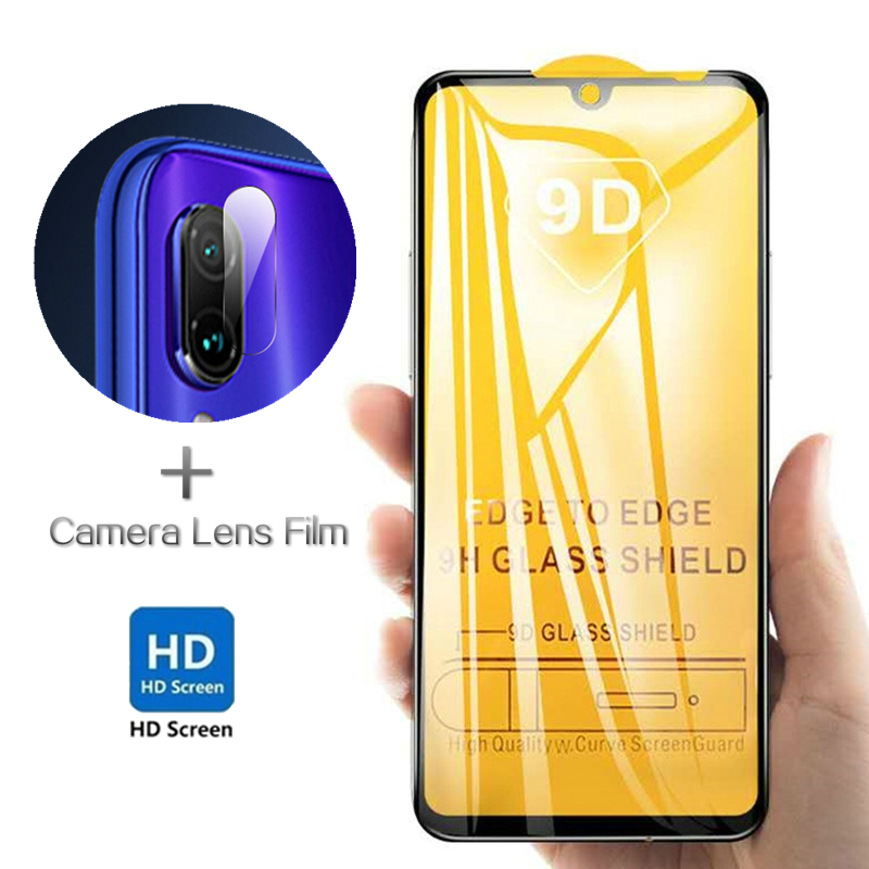 2 In 1 Tempered Glass For Xiaomi Redmi Note 7 8 Pro Back Cmare Lens + Front Film For Redmi 7 9D High Definition Protective Film