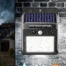 Nashone 100 светодиодный уличный светильник на солнечной батарее, настенный светильник с пассивным ИК датчиком движения, водонепроницаемый сол...
