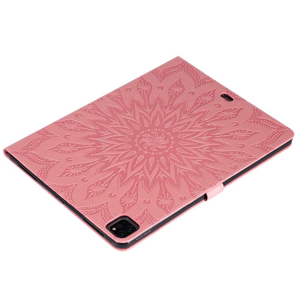 9 Skin Pro Embossed Shell Flower 3D 12 Leather Protective 2020 Cover Case for iPad