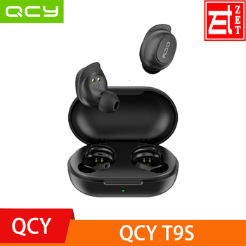 Original QCY T9S TWS Mini Bluetooth Headphones Earphones Stereo Wireless Earbuds With QCY Exclusive APP Available black
