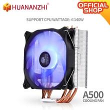 Huananzhi a400/a500 2/4 tubo de calor cobre led cpu cooler ventilador refrigeração radiador silencioso único/duplo ventilador refrigerador dissipador calor