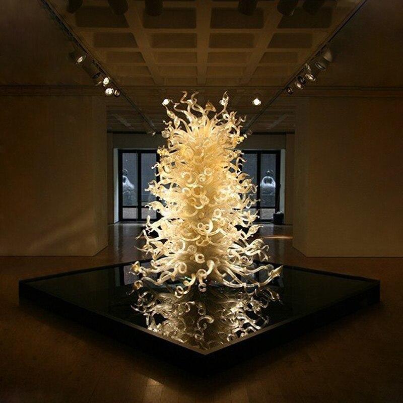 Нордический стиль муранского стекла Напольная Лампа дома Арт Деко освещение светильник