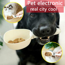 800g/1g Pet Food Scale Cup For Dog Cat Feeding Bowl Kitchen Scale Spoon Measuring Scoop Cup Portable With Led Display new(China)