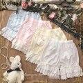 Süße Frauen Gothic Lolita Sicherheit Shorts Hosen Japanischen Mädchen Nette Spitze Bogen Rüschen Stretchy Unterhose Chic Baumwolle JK Pumphose