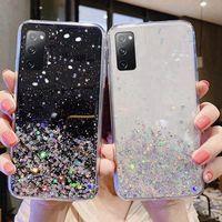 Luxus Bling Glitter Telefon Fall Für Samsung S20 FE A11 A01 A21S A51 A31 Zurück abdeckung für Galaxy S 20 EIN 11 31 21S 51 zurück fällen