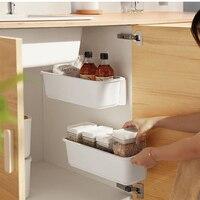 1/2 Uds Cocina bajo fregadero cajas cajones de almacenamiento montado en la pared estante de especias botellas titular estante del armario del Gabinete de Cocina de almacenamiento