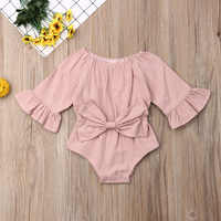 Imcute-ropa para recién nacido de 0 a 24 meses, Pelele de manga larga, traje con lazo de verano, ropa para bebé