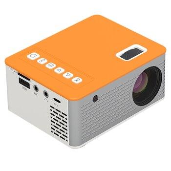 Novo hd mini projetor de vídeo portátil cinema em casa suporte do telefone móvel vídeo player filme jogo proyector