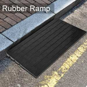 Ramps Threshold-Ramp Scooter Wheelchair Rubber with 3-Channels for Motorbike Car Anti-Slip