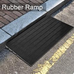 Anti-slip Rubber Curb Schwelle Rampe mit 3 Kanäle für Roller Rollstuhl Motorrad