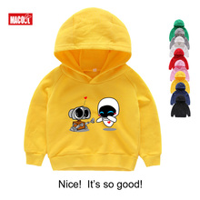 Wall-E Eve Robot Couple Cartoon Funny Hoodies Homme Jollypeach New Breathable Sweatshirts Kids Long Sleeves
