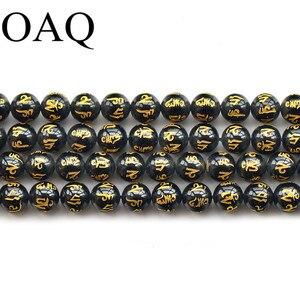 6/8/10/12MM naturel rond à facettes noir rouge Agat perles en vrac perles pour collier à faire soi-même Bracelet fabrication de bijoux