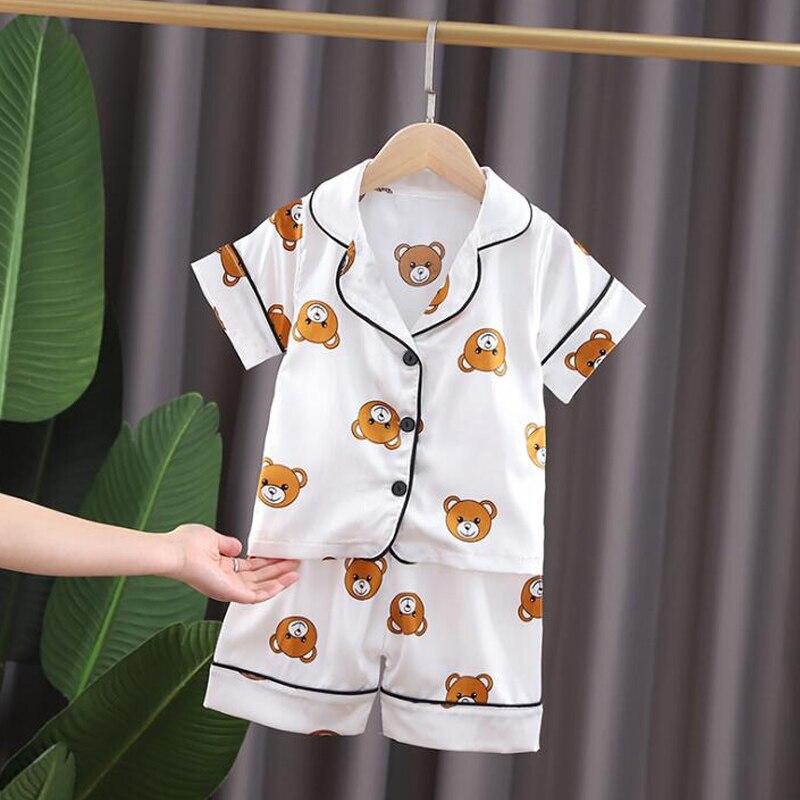 Kids Pajamas Set Toddler Sleepwear New Summer Pijamas For Boys Clothes Baby Girls pajamas Suit Boys Pyjamas Children Clothing 4