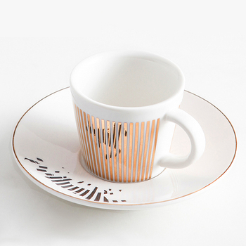 Ins Style Mmirror Reflection Coffee Cup Plate Luxury afternoon tea set Ceramic Running Horse/Deer/Hummingbird Mug - discount item  50% OFF Kitchen,Dining & Bar
