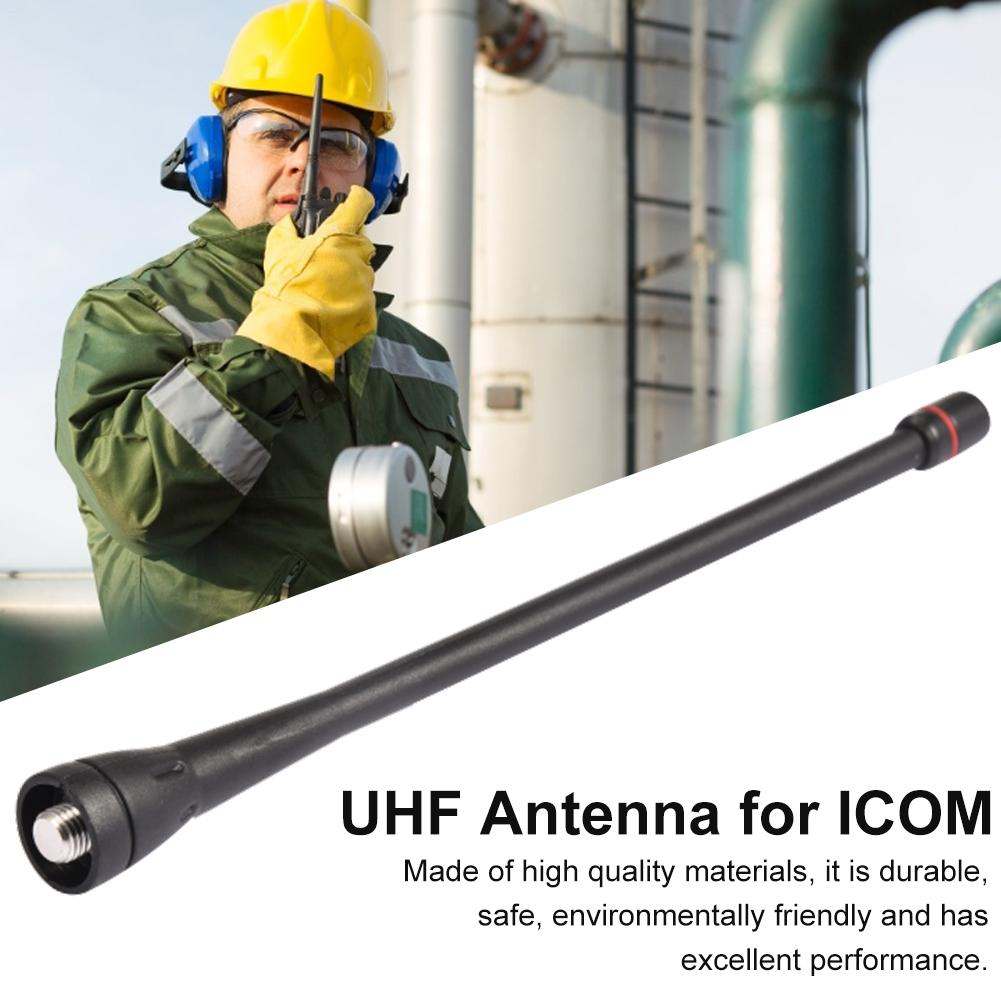 Portable Walkie Talkie Antenna VHF Radio Rubber 16cm Portable Two Way Radio 50 OHM 136-174mhz 1.8dBi Antenna For ICOM IC-F3