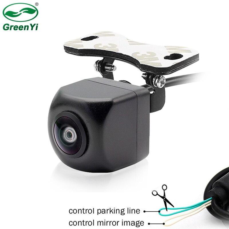 HD 170 градусов CCD объектив рыбий глаз Автомобильная обратная резервная камера заднего вида с передним видом боковая камера видеонаблюдения д...