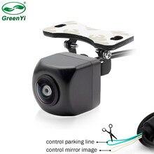 Hd 170 graus ccd fisheye lente do carro reversa backup câmera de visão traseira vista frontal lado cctv veículo estacionamento câmera