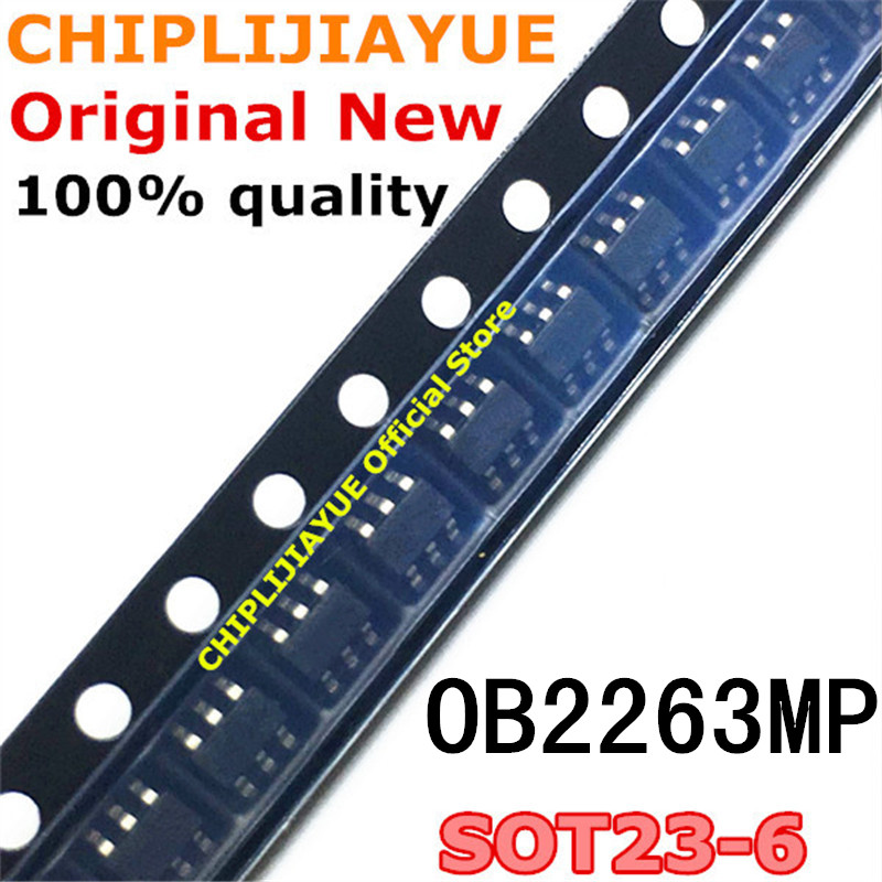 20PCS <font><b>OB2263MP</b></font> SOT23-6 OB2263 OB2263AMP SOT-23-6 SOT SMD new and original IC Chipset image