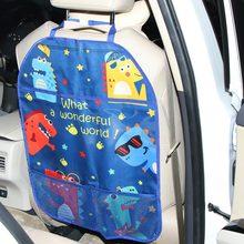 Kid Waterproof Car Seat Back Protector Kids Back Protector Cover Car Organizer Tablet Stand Hanging Bag Storage Holder Kick Mats