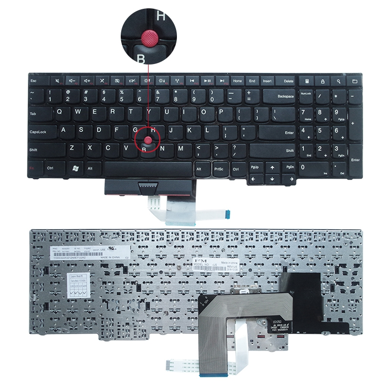 YALUZU New English Laptop Keyboard For Lenovo FOR ThinkPad Edge E530 E530C E535 US Keyboard 04Y0301 0C01700 V132020AS3
