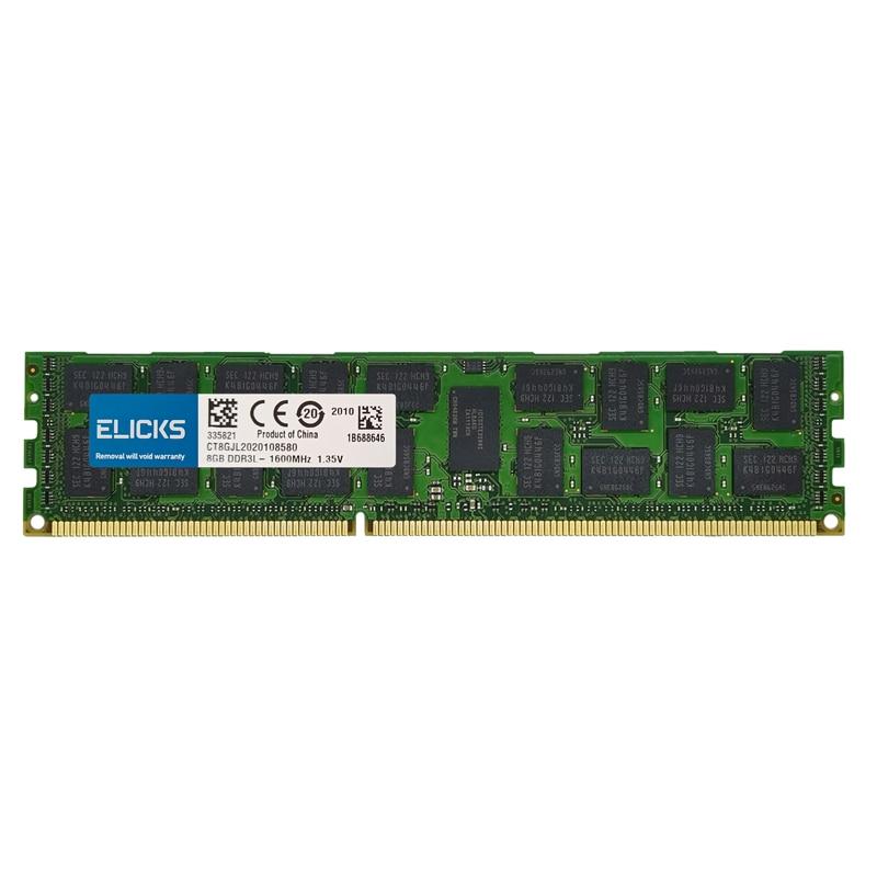 Elicks ddr3 memória do servidor 1333mhz 1600mhz 1866 ram 10600r reg ecc para x58 x79 placa-mãe geral